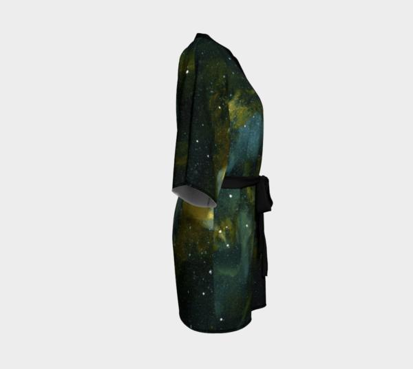 Robe Green Galaxy Kimono Robe 1 1
