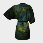 Robe Green Galaxy Kimono Robe 2