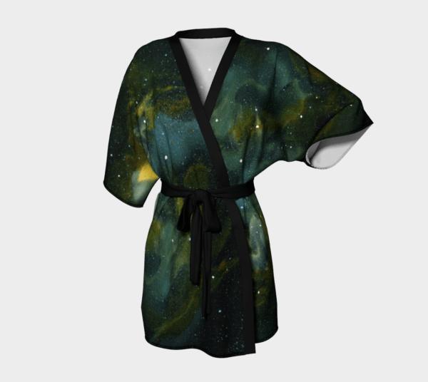 Robe Green Galaxy Kimono Robe 3 1
