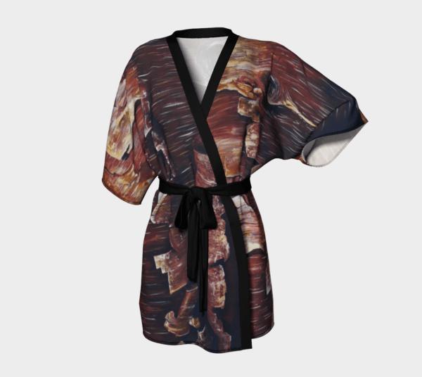 Robe Peeling Bark Kimono Robe 3 1