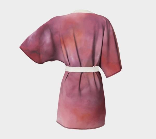 Robe Pink Abstract Kimono Robe 1