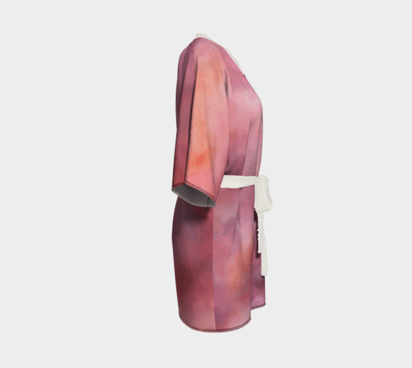Robe Pink Abstract Kimono Robe 4 1