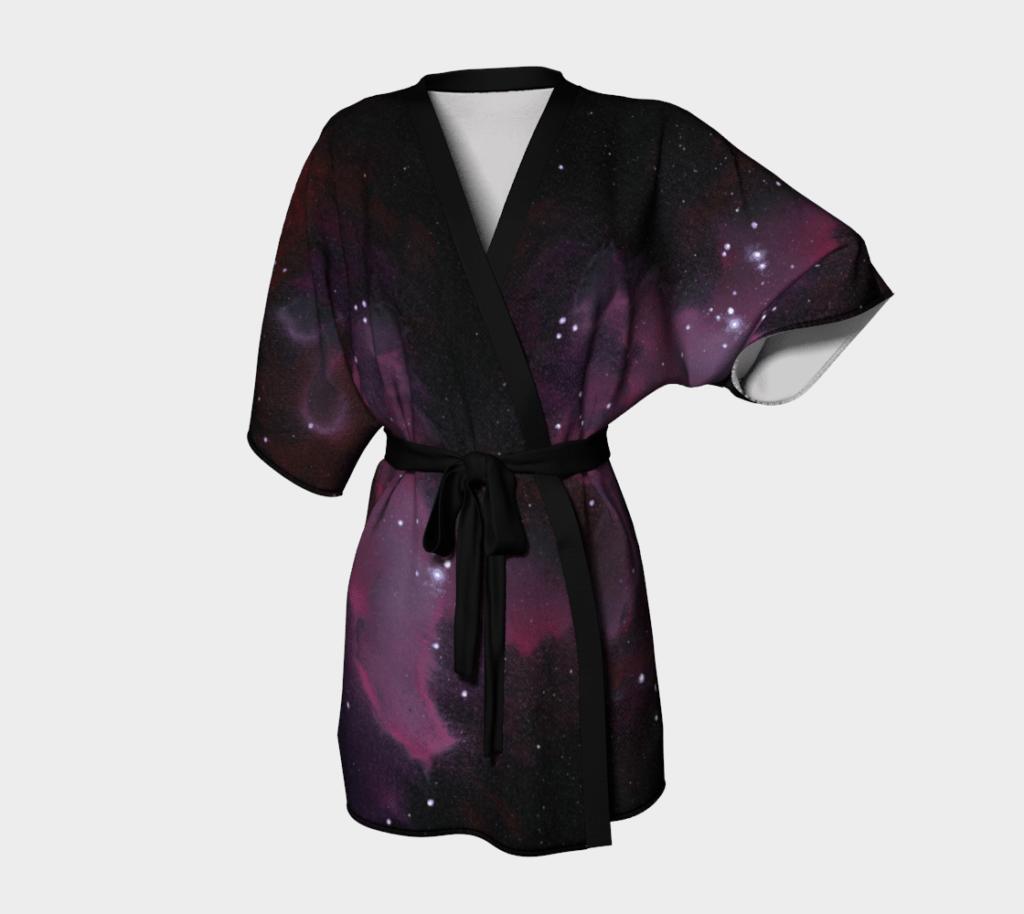 Robe Purple Galaxy Kimono Robe 3 1