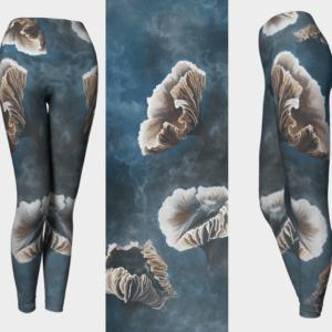 Teal Mushroom Leggings