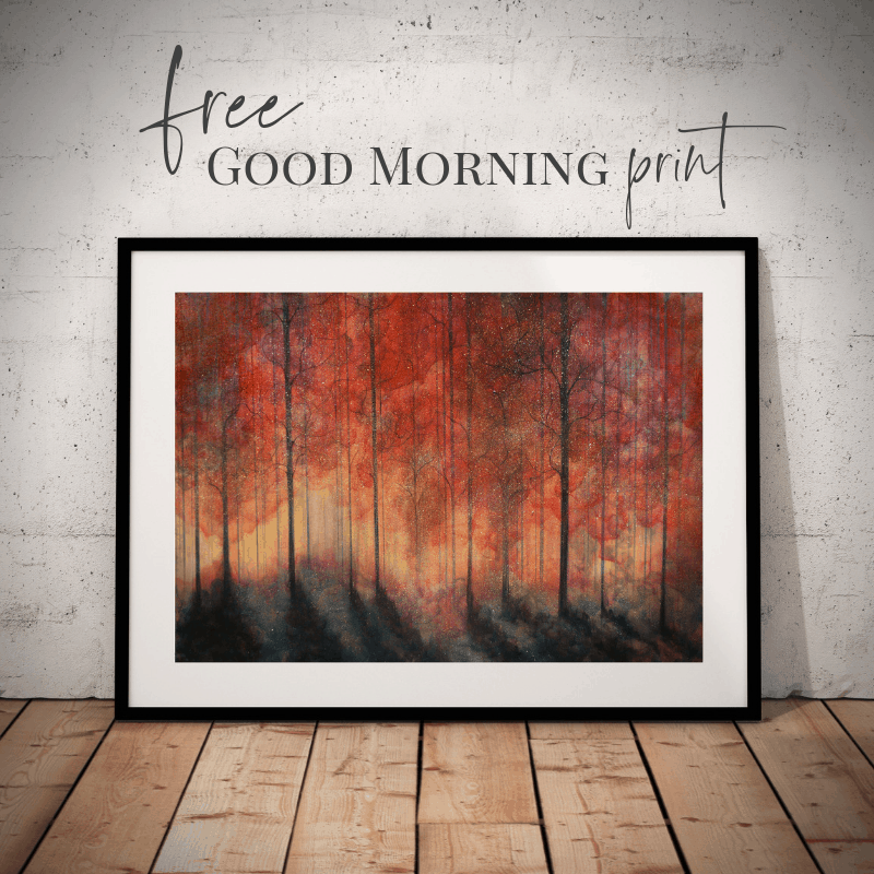 free good morning print